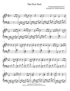 Blues Piano Lessons The First Noel (by Tiffany Hobson -- Piano Solo) Christmas Piano Sheet Music, Christmas Music, Solo Music, Piano Music, Piano Lessons, Music Lessons, Lds, Tiffany, Church Music