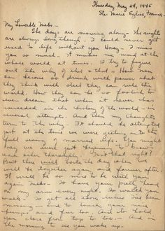 Lot 31 Antique Handwritten OLD Letters 1916 & 1944 WWII (the sale ...