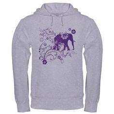 Elephant Swirls Purple Hooded Sweatshirt