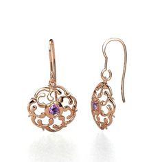 The Thangka Earrings #customizable #jewelry #amethyst #rosegold #earrings