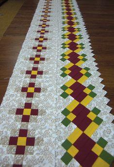 Импровизации на тему полосочек Patchwork Patterns, Patchwork Bags, Quilt Patterns, Quilt Boarders, Quilt Blocks, Quilting Tips, Quilting Designs, Seminole Patchwork, Table Runner Pattern