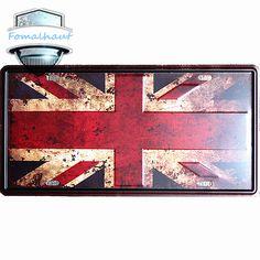 "Vintage Car Plate ""Flag of The United States"" Wall Art Craft Vintage Iron Metal Painting for Bar Decorvintage Decorative Plates >>> For more information, visit image link. #HomeDecor"