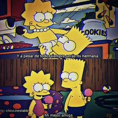 Cool Messages, Pink Images, Kimi No Na Wa, Love Phrases, Sad Life, Bart And Lisa Simpson, Spanish Quotes, The Simpsons, Instagram Story