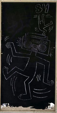 Untitled, 1984  Chalk on paper