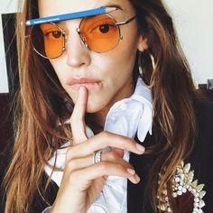 "17.5 mil Me gusta, 86 comentarios - Calu Rivero (@lacalurivero) en Instagram: ""J͟u͟s͟t͟ t͟h͟i͟n͟k͟i͟n͟g͟"" Round Sunglasses, Mirrored Sunglasses, Instagram Posts, Goals, Fashion, Hair, Celebrity, Woman, Moda"