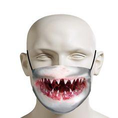 Shark Makeup, Shark Mouth, Flu Mask, Great White Shark, Mouth Mask, Big Fish, Best Christmas Gifts, Ear Loop, Mascara