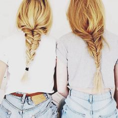 Lazy Sunday getup. Fishtail braid, plain white tee & denim shorts