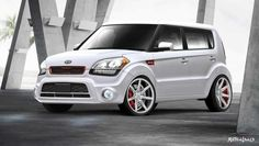 KIA SOUL White & Red