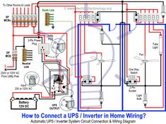 Inspiration Wiring Diagram For House Light How To Connect Automatic Ups Inverter To The Home Supply System Rh Electricaltechnology Org Basic Light Wiring Diagrams Basic Light Switch Wiring Diagram Electronic Engineering, Electrical Engineering, Basic Electrical Wiring, Light Switch Wiring, Structured Wiring, Ups System, Electronics Basics, House Wiring, Electrical Installation