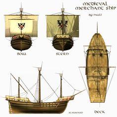 a Medieval Pilgrimage: May 2011 Medieval World, Medieval Fantasy, Merchant Marine, Man Of War, Renaissance, Wooden Ship, Tall Ships, Boat Building, Model Ships