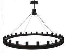 Black Steel | Ring Chandelier | Traditional Chandelier | Classic | iWorks