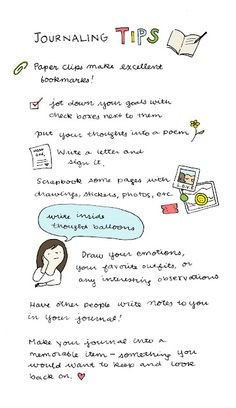 Tips for journaling