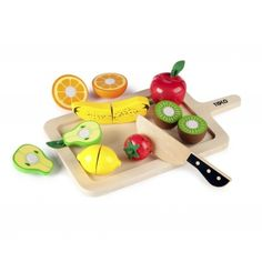 wooden fruit to cut