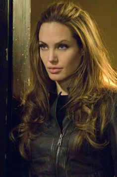 Angelina Jolie's Leather Jacket Used to Launch Movie #biker #fashion trendhunter.com