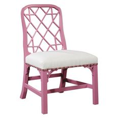 Benjamin Moore Samoan Sun used as a match panel paint by Suzanne Kasler on the Linwood Chair.  Notice the pink grosgrain ribbon and spaced petite nails.
