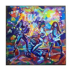 KISS Alive pop art album cover painting by Howie Green
