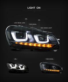 #VLAND #vwmk6 #vwgolf6 #vwgolf6headlight #vwgolf6headlamp #vwgolf6headlights #vwgolf6headlight Factory Car Head Lights For VW MK6 Golf 6 2008-2013 LED Head Lamp Headlights Jetta A4, Vw Golf 6, Car Head, Projector Headlights, Ford Ecosport, Volkswagen Polo, Vw Cars, Futuristic Cars, Car Lights
