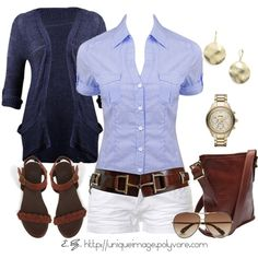 Spring Casual, created by uniqueimage on Polyvore