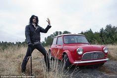 Alice Cooper stands by his Mini Cooper