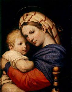 Giovanni Battista Salvi da Sassoferrato (1609–1685) Madonna and child (after Rapfael)   Etwa1660