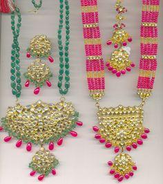 Jadau and Meenakari : The artistic Jewellery of Mogul pattern- just love them lovely colors!!!