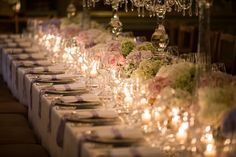 Romantic atmosphere for this wedding.  #wedding #weddingideas #weddingispiration #inspiration #ideas #details #candles #flowers #chic #dinner #miseenplace