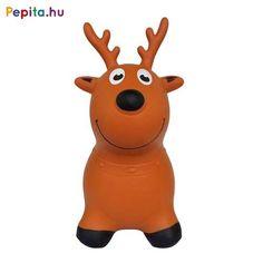 Gumiból készült, felfújható szarvas ugrálófigura. Kül- és  beltéren egyaránt használható. A barna szarvas ugrálófigura magassága 46 cm, hossza 46 cm, ülésmagassága 22 cm. Maximális terhelhetősége 20  kg. 2 éves kortól ajánljuk. A csomagolás tartalmaz 1 db pumpát is. Scooby Doo, Fictional Characters, Fantasy Characters