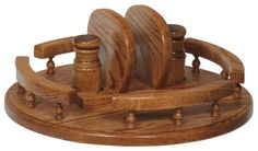 This particular Lazy Susan model can only come in Oak with a 14 inch diameter.The height of this Lazy Susan is 6 and a half inches.