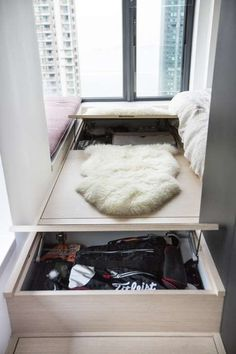 At 540 square feet, it may not be the most spacious but this Kennedy Town apartment boasts a sizeable bedroom, a walk-in wardrobe and plenty of storage, the highlight of which is the cabinet that houses the owner's designer-shoe collection