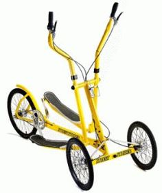 I was on a bike ride with my family a couple of days ago and got passed by a guy riding this thing called a Street Strider. The thing was bright yellow and real(. Tricycle Bike, Adult Tricycle, Recumbent Bicycle, Striders, Cargo Bike, Pedal Cars, Bike Design, Go Kart, Fun Workouts