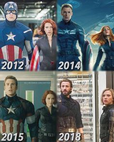 Time flies. #captainamerican #Blackwidow #marvel #cosplayclass #theavenges