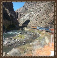 Train ride through the royal gorge in Colorado