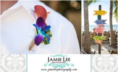 The Turtle Club | Naples Wedding Photographer | Jamie Lee Photography | Tropical Flower Boutonniere | Christie's Flowers and Gifts