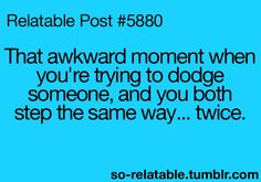 THIS IS THE MOST AWKWARD THING OHMYWORD.