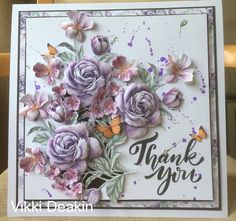 Samantha Brown's media statistics and analytics Tattered Lace Cards, Shaped Cards, Die Cut Cards, Create And Craft, Lace Flowers, Flower Cards, Hobbies And Crafts, Making Ideas, Thank You Cards