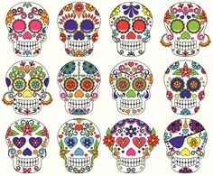 traditional mexican sugar skull images - Google Search