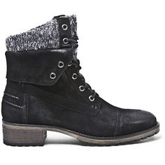 Steve Madden Women's Jourdana Booties (535 CNY) ❤ liked on Polyvore featuring shoes, boots, ankle booties, ankle boots, black leather, black lace up booties, black lace up boots, black ankle booties, black bootie and lace up booties