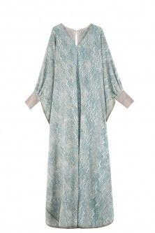 kaftan dress by MISSONI. Available in-store and on Boutique1.com Kaftan Batik, Caftan Dress, Dress Sewing Patterns, Clothing Patterns, Dress Brokat Muslim, Kaftan Pattern, Kaftan Style, Batik Fashion, Arab Fashion
