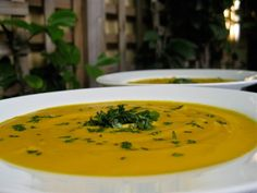 Vitamix Recipes. Spicy Vegan Carrot Soup. This simple soup is absolutely delicious! The Vitamix gets it so smooth and creamy, and the spices give it a kick. YUMMO!