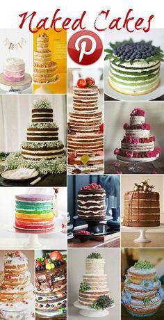Naked Cakes = less | http://specialweddingcakeideas.blogspot.com