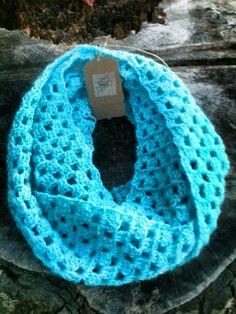 Infinity scarf. Original design. Alpaca blend.