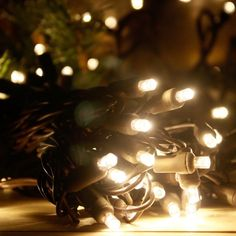 5mm Warm White LED Christmas Lights on Brown