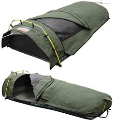 Roman Ridgeline King single Dome Canvas Swag Bed Roll