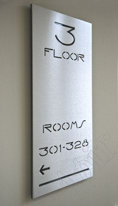 SAV - Range of metal signs with cut out lettering and Plexiglass support