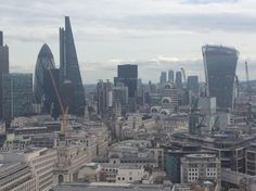 The Financial City of London from the top of St Pauls Cathedral