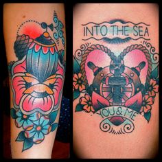 i really love the right one. ashley love is doing such great tattoos.