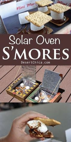 DIY Solar Oven S'mores are the perfect fun learning and eating activity in the summer! The solar ovens are pretty easy to make with supplies you likely already have at home and you can't beat the allure of chocolate, marshmallows and graham crackers. Diy Solar, Solar Oven Diy, Science Experiments Kids, Science Fair, Science For Kids, Preschool Science, Science Ideas, Science Chemistry, Science Classroom