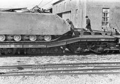 The Maus being transported for field evaluations