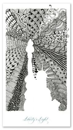 Zentangle created by Maria Thomas and Rick Roberts