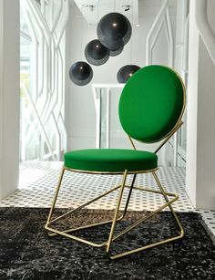 Moroso Double Zero Chair in Polished Black Chrome or Gold Chrome 2